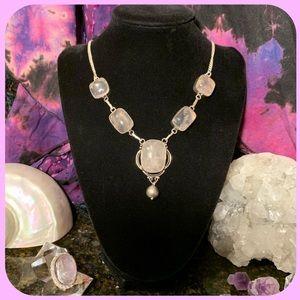 🌹 Wow! Beautiful large rose quartz necklace